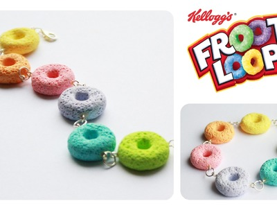 Polymer clay Froot Loops CEREAL tutorial (sugar.salt technique)