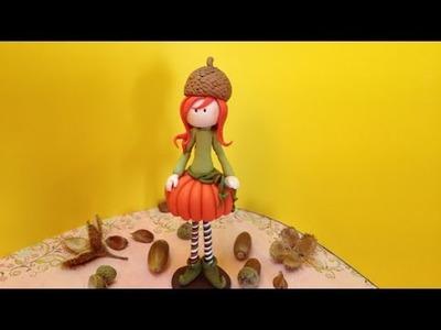 Pumpkin doll. Boneca Abobrinha- Polymer clay (Fimo)