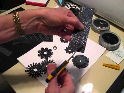Sizzix 50th Birthday Black Flower card.wmv
