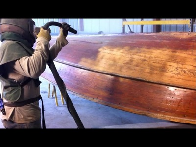 Soda Blasting Indiana, Sand Blasting Indiana, Wood boat blasted with soda by Freedom Blasting