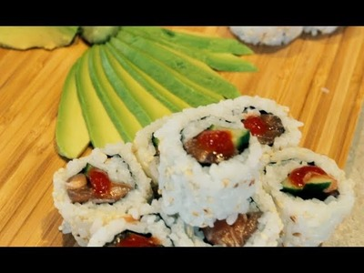 Spicy Salmon Maki Rolls - How to Make Spicy Salmon Sushi