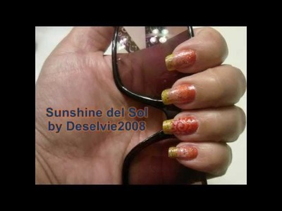 Summer Nail Art: Sunshine Del Sol in Fade Effect.Ombre Color Selection