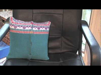 Textile Art - recycled cushion covers