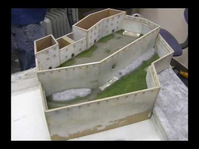 The making of a realistic scale model of  a medieval castle (Scale 1:150)