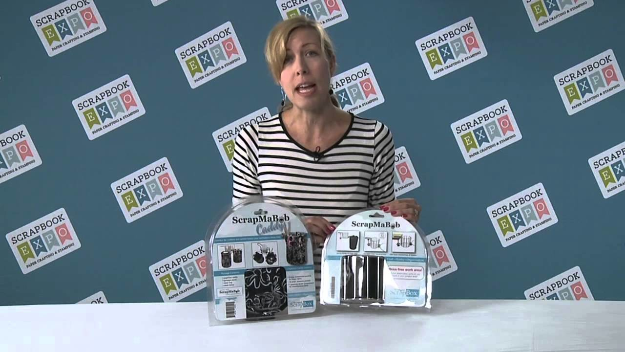 Tip of the Day - The ScrapMaBob Meets The ScrapMaBob Caddy By Bee Creative