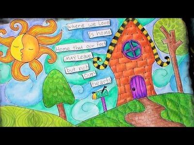 Whimsical landscape zentangle tutorial