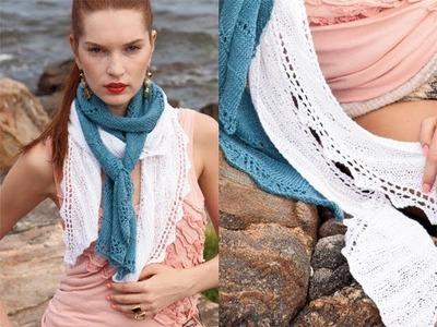 #13 Bias Rib Scarf, Vogue Knitting Spring.Summer 2011
