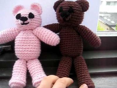 Amigurumi Crochet Bear - Violet & Teddy