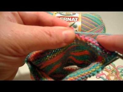 Bernat Ankle Socks: Heel Flap - Row 1