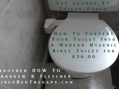 Bidet DIY Install Guide Easy Toilet. No more poop smearing toilet paper for our bums!