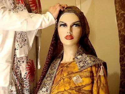 Bridal Hijab Style - Part 1 - How To Do Bridal Hijab Tutorial - DIY
