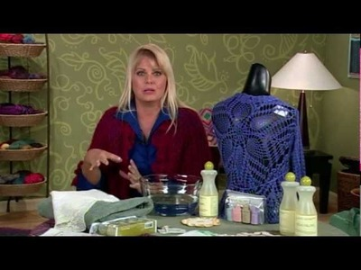 Care for your Handmades, Crochet Corner from Knitting Daily TV 813, Sponsored by Eucalan