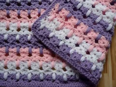 Crochet Baby Blanket Cat Stitch