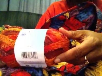 Crochet ruffle scarf using sashay yarn from red heart