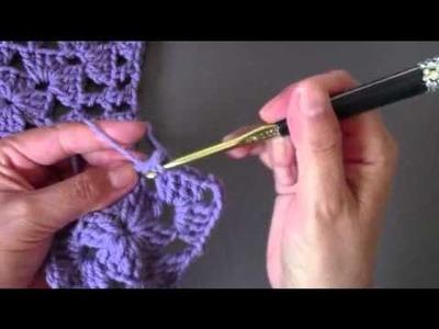 Crochet square motif #92 crochet along