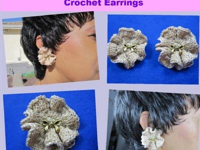 Crochet Tutorial - Easy Ocean Wave Earrings For The Beginner