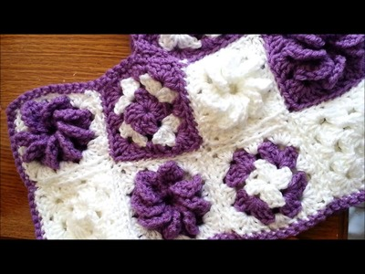 Crocheted of the week #8 - crocheted flower poncho, zebra hat and mittens