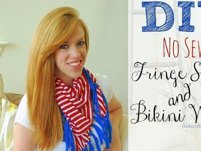 DIY 30 Minute No Sew Fringe Scarf & Bikini Wrap