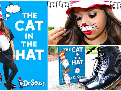 DIY Cat in The Hat Halloween Costume! | KrazyRayRay