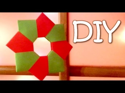 DIY Christmas Ornament - Paper Wreath (8-unit modular origami)