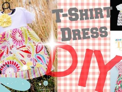 DIY Easy T-Shirt Dress  2 Minute Tutorials