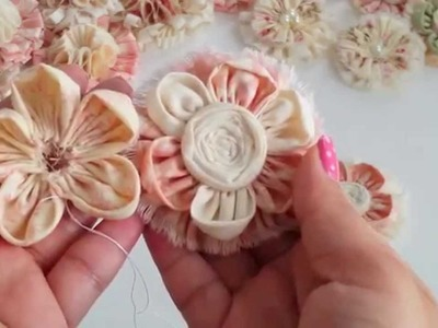 DIY How to Kanzashi flower