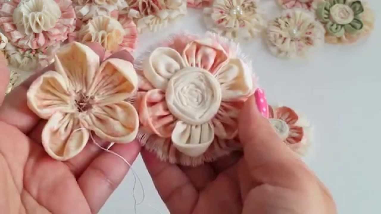 DIY How to Kanzashi flower