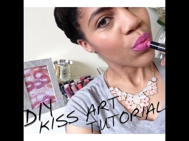 DIY Room Decor Chic & Simple Lipstick Artwork