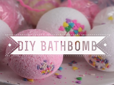 DIY Sprinkles Bath Bombs (Vanilla Cupcake Scented)