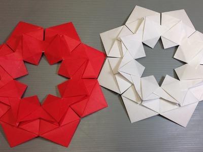 Easy Origami Modular Christmas Flower