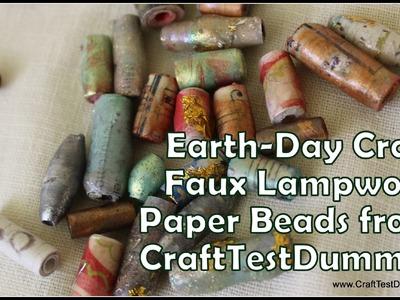 Faux Lampwork Paper Bead Tutorial