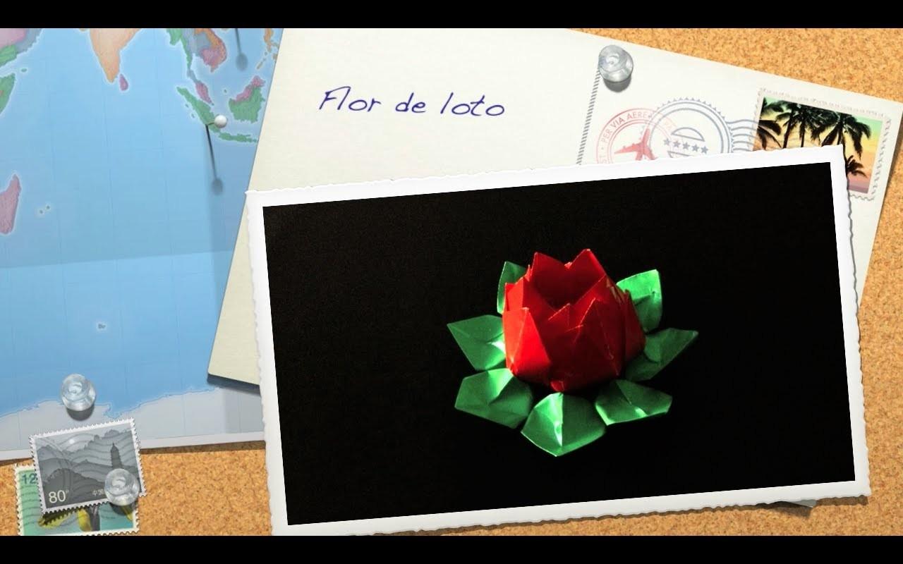 Flor de loto de papel - origami
