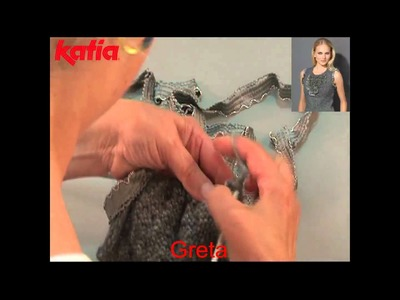 Greta (Knitting together with another yarn.Aplicación a media con otro hilo)