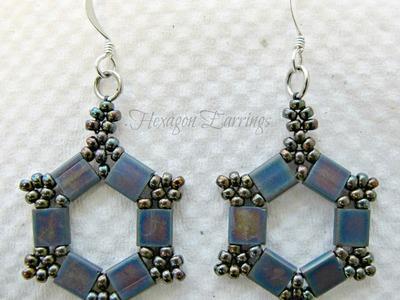 Hexagon Earrings Take 2