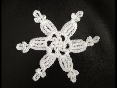 How to Crochet a Snowflake Pattern #4 │by ThePatterfamily