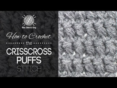 How to Crochet the Criss Cross Puffs Stitch (Left Handed)