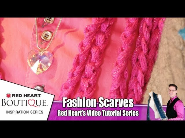 How To Finger Chain Red Heart Sashay Scarves