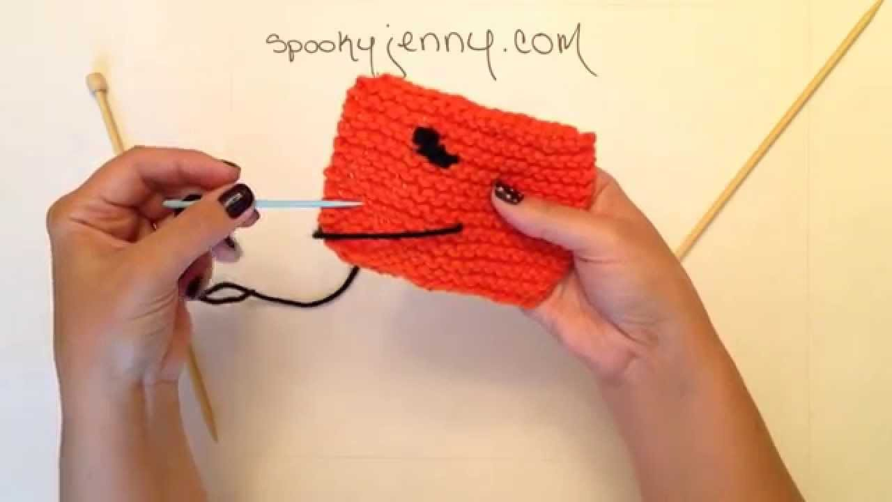 How to Knit a Halloween Scarf for Beginners: Add bat to the end - Part 5 of 5