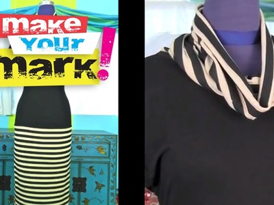 How to make a Cowl Neck Dress from a t-shirt DIY