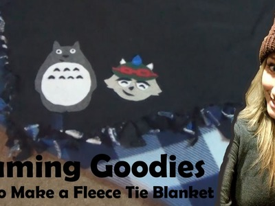 How to Make a gaming Fleece Tie Blanket (Gaming Goodies)