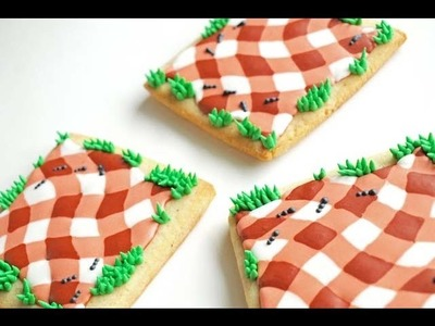 How To Make A Picnic Cookie Using Royal Icing