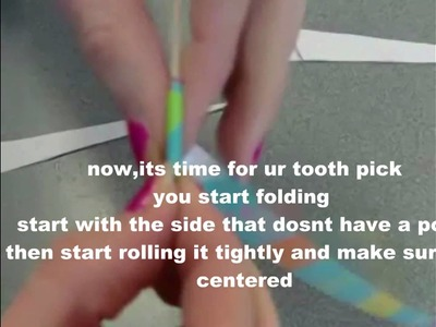 How To Make Paper Beads!!!!![[READ DOWNBAR]]