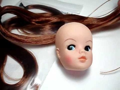 How to reroot a doll using the Knot Method