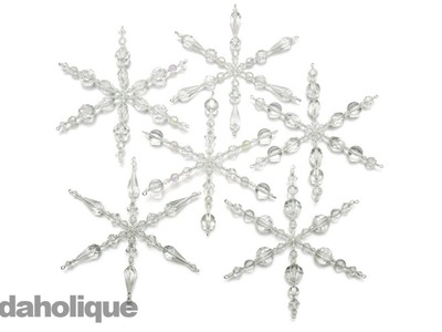 Instructions for Making the Set of 6 Snowflake Christmas Ornaments