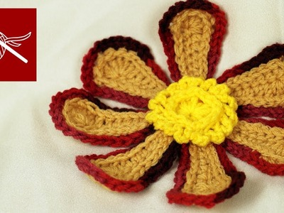 LARGE CROCHET FLOWER - FLOWER POWER Crochet Geek