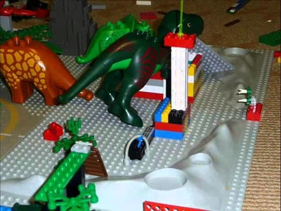 Lego Duplo Dinosaur attack - short stop motion video