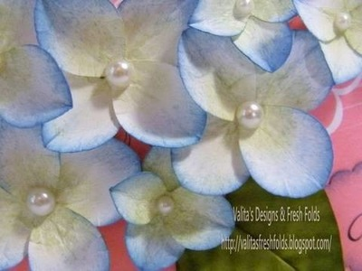 Making paper Hydrangeas with your heart punch