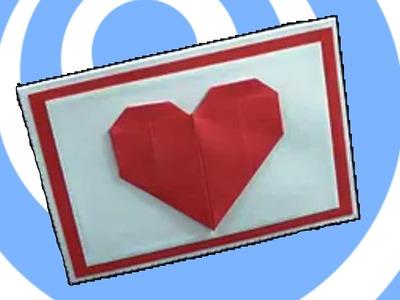 Mini handmade valentine's day card