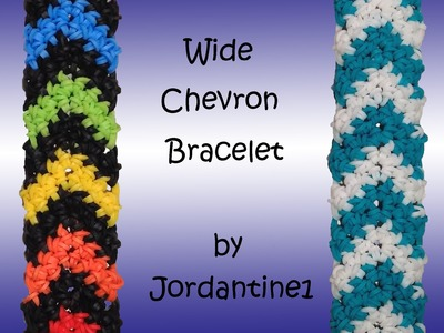 New Wide Chevron Bracelet - Hook Only -  Rubber Band Crochet - Rainbow Loom