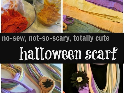No-Sew & Not-So-Scary Scarves for Halloween | Crafts | teachmama.com